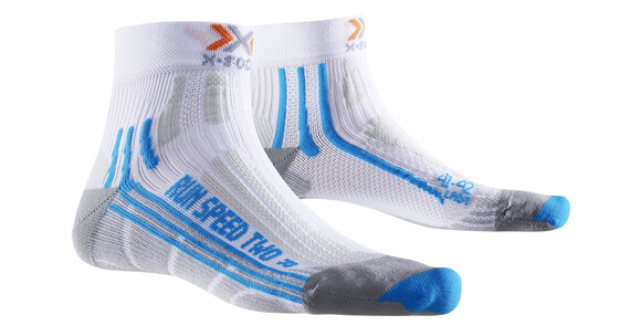 X-Socks Run Speed Two Skarpetki do biegania Kobiety niebieski/biały